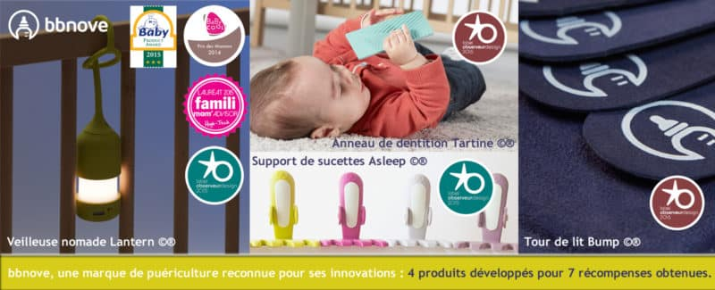 bbnove e-shop puériculture design - concept store made in france pour bébés Attache sucettes par bbnove