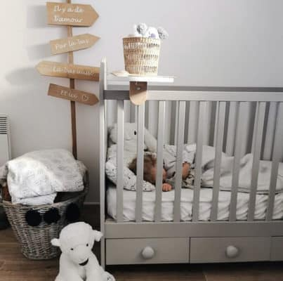 bbnove e-shop puériculture design - concept store made in france pour bébés Tablette bois pour lit bébé post instagram bbnove